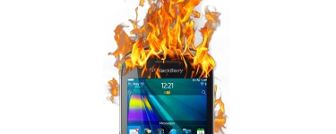 Boy Burned as Blackberry Curve 9320 Catches Fire