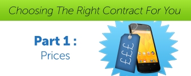 Choosing The Right Contract For You - Part 1 - Prices